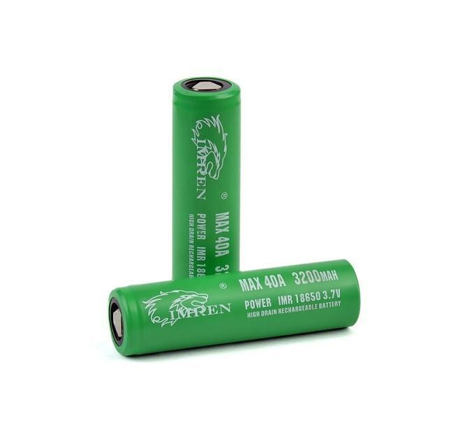 IMREN 3200 mAh 40A 18650 Battery (Pair)-Blazed Vapes