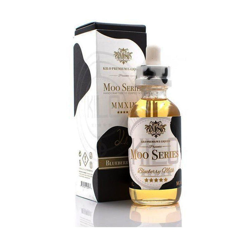 Kilo Vape Juice Moo Series - Blueberry Milk (60ml)-Blazed Vapes