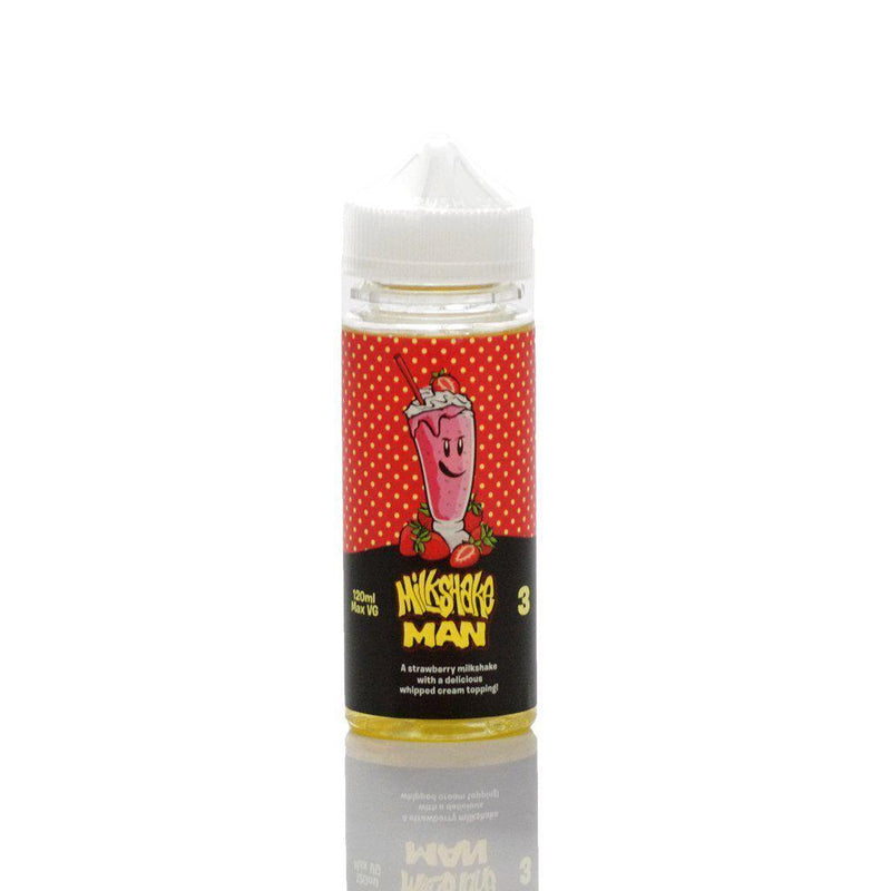 Milkshake Man Vape Juice Strawberry (120ml)-Blazed Vapes