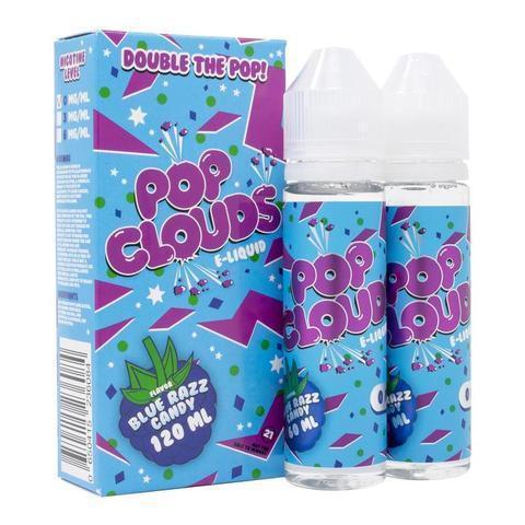 Pop Clouds Vape Juice Blue Razz Candy 120ml-Blazed Vapes