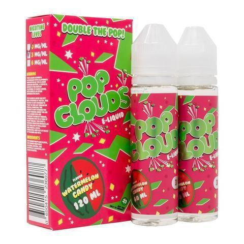 Pop Clouds Vape Juice Watermelon Candy 120ml-Blazed Vapes