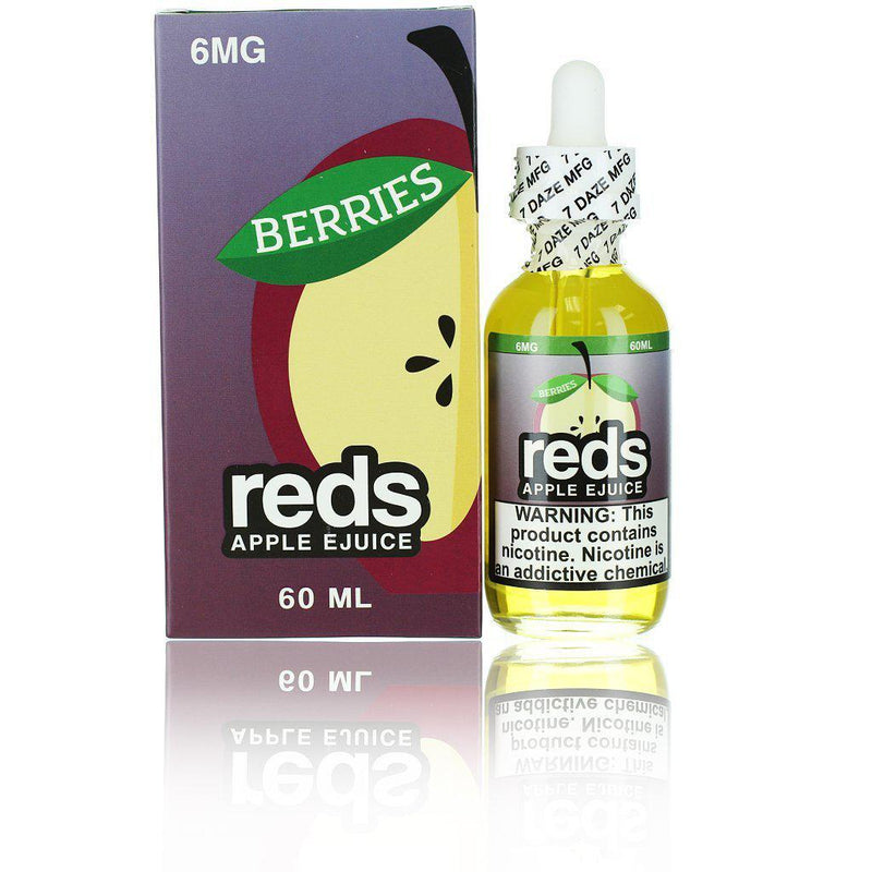 7 Daze Reds Apple EJuice - Berries 60ml Vape Juice-Blazed Vapes