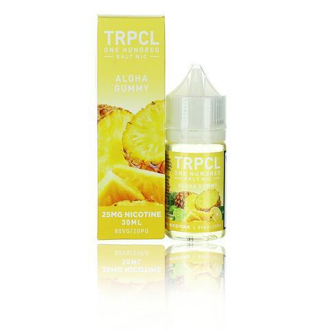 TRPCL ONE HUNDRED Salts Aloha Gummy 30ml Vape Juice-Blazed Vapes