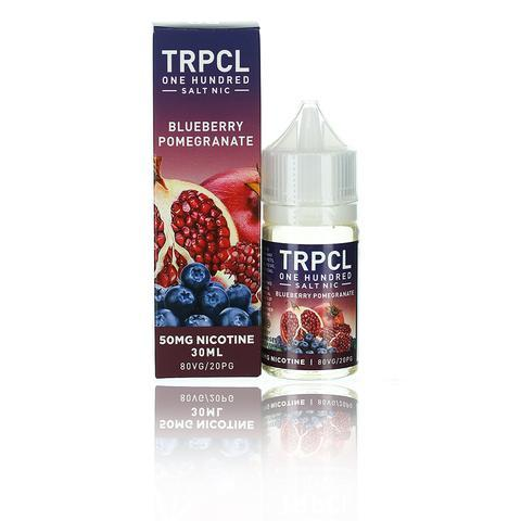 TRPCL ONE HUNDRED Salts Blueberry Pomegranate 30ml Vape Juice-Blazed Vapes