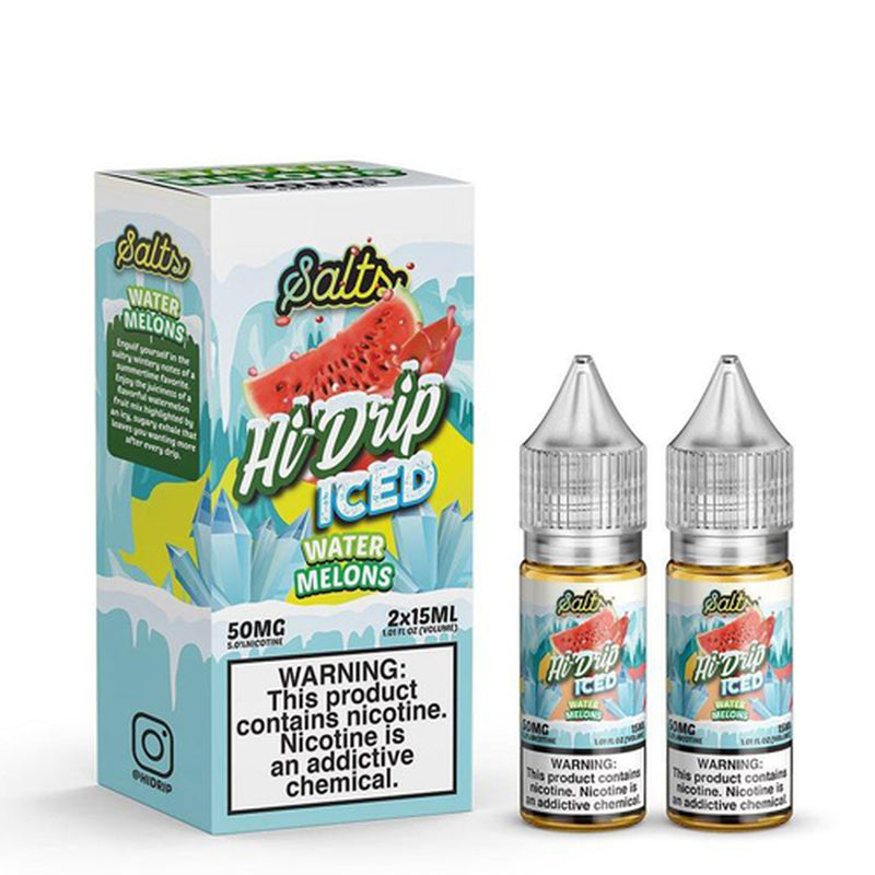 Hi-Drip Salts Water Melons Iced 30ml Nic Salt Vape Juice-Blazed Vapes