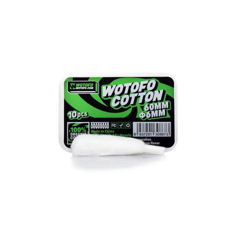 Wotofo Profile RDA 6mm Agleted Organic Cotton-Blazed Vapes
