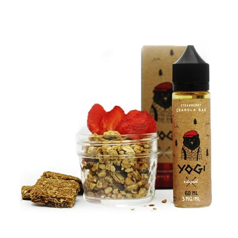 Yogi Vape Juices - Strawberry Granola Bar (60ml)-Blazed Vapes