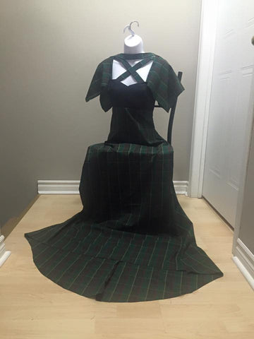 This tartan design is one of East Coast Couture's unique, and popular dresses.