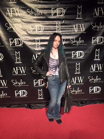 LeeAnn Dussault, of East Coast Couture on the red carpet at Casino Nova Scotia during Atlantic Fashion Week