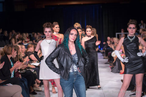 The finale walk of East Coast Couture's first major presentation at Atlantic Fashion Week's 11th annual fashion event in Halifax, Nova Scotia in October 2017, at the Casino Nova Scotia
