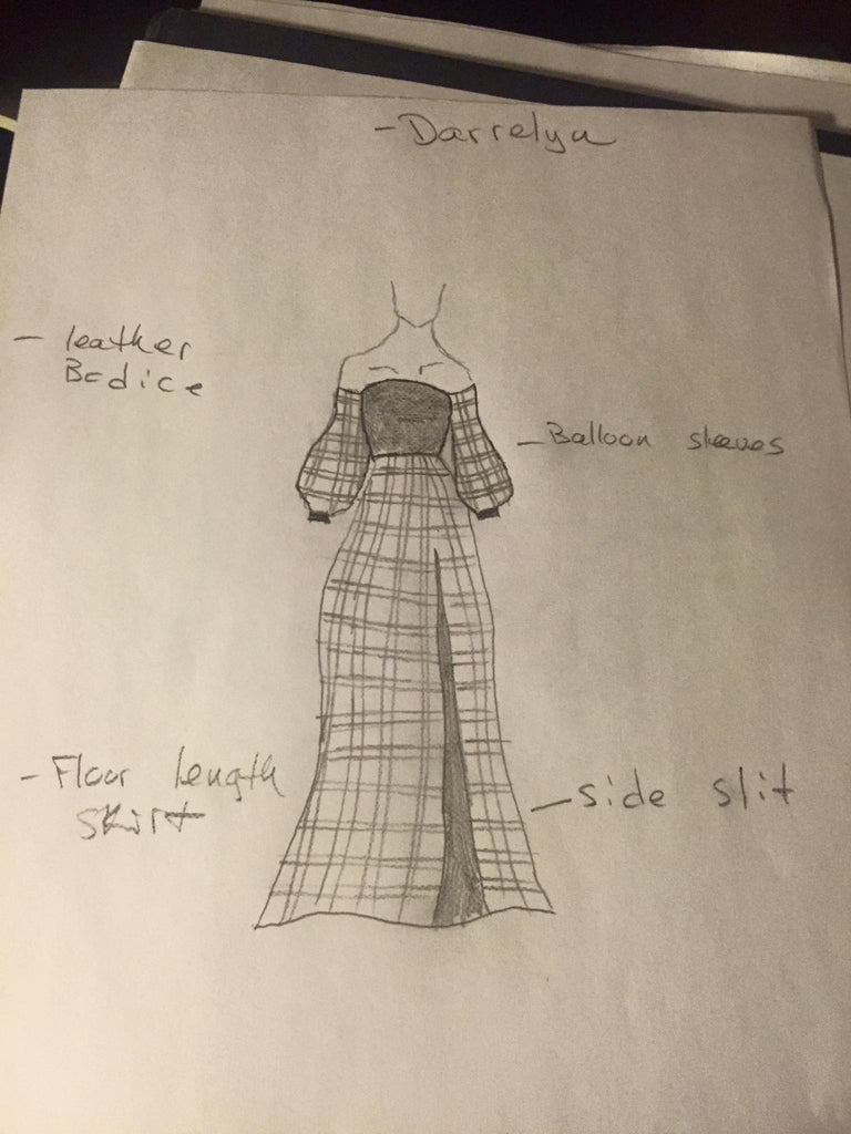 A rare look at LeeAnn Dussault's design sketches for outfits featured in Atlantic Fashion Week, 2018.