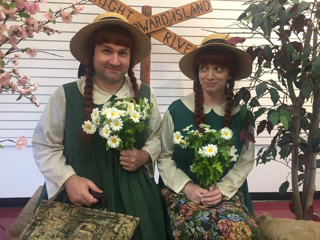 LeeAnn and Nicholas Dussault dressed up as Anne of Green Gables on Prince Edward Island.