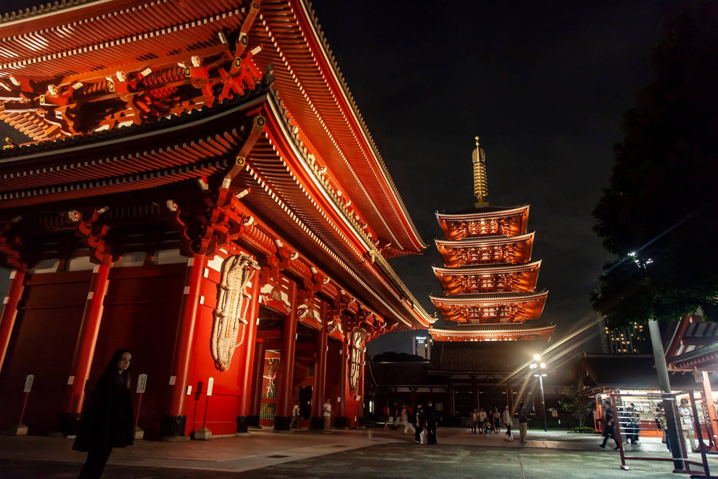 East Coast Couture spent a month in Tokyo, hunting for fabric and studying the cultural styles of Japan. Here is the Sensoji Temple in Asakusa at night.