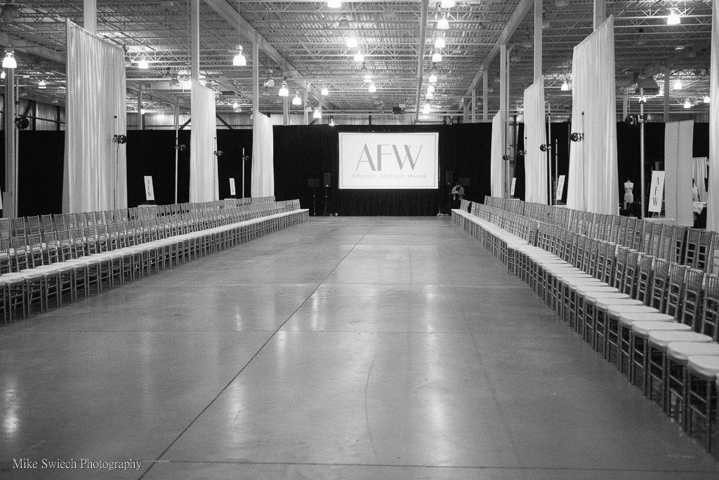 Pre-show at Atlantic Fashion Week, Halifax, Nova Scotia in 2018.