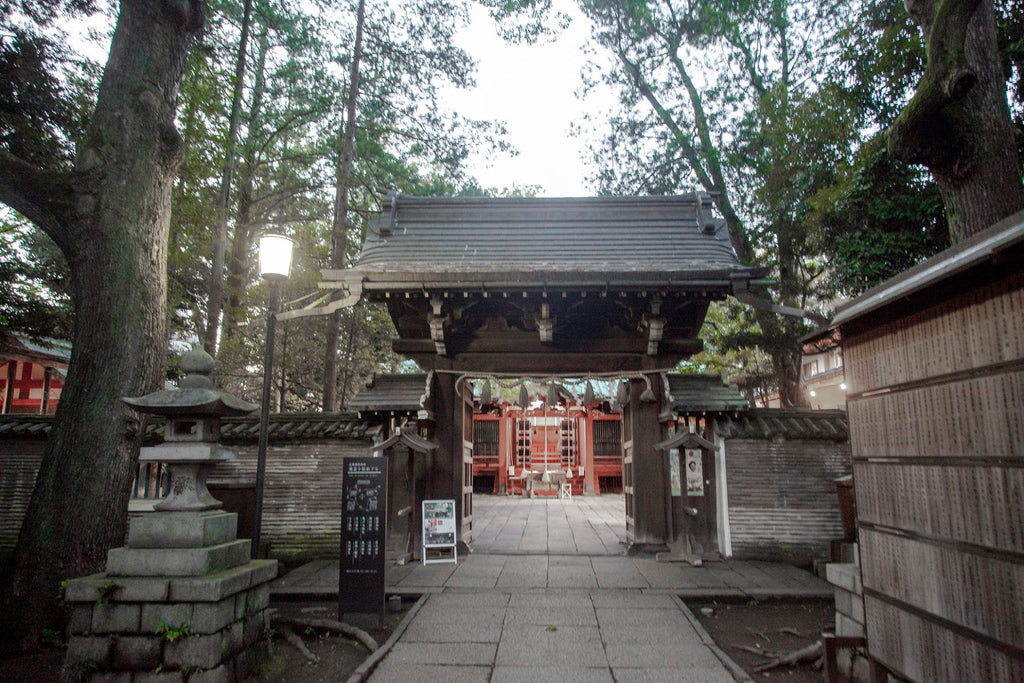 Hikawa Jinja Shrine in Akasaka prefecture, Tokyo. Not far from Roppongi station, LeeAnn Dussault took time to do a product shoot here.