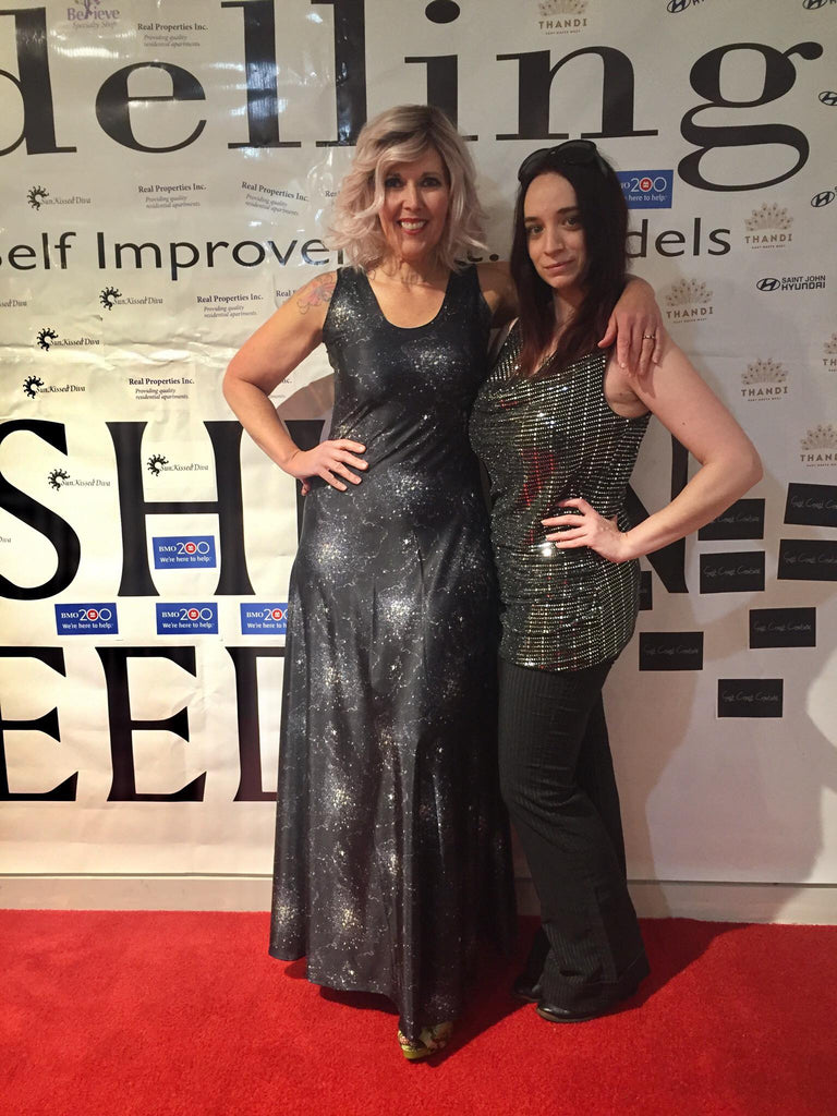 LeeAnn Dussault with Lorraine Peters, owner of NWH Models.