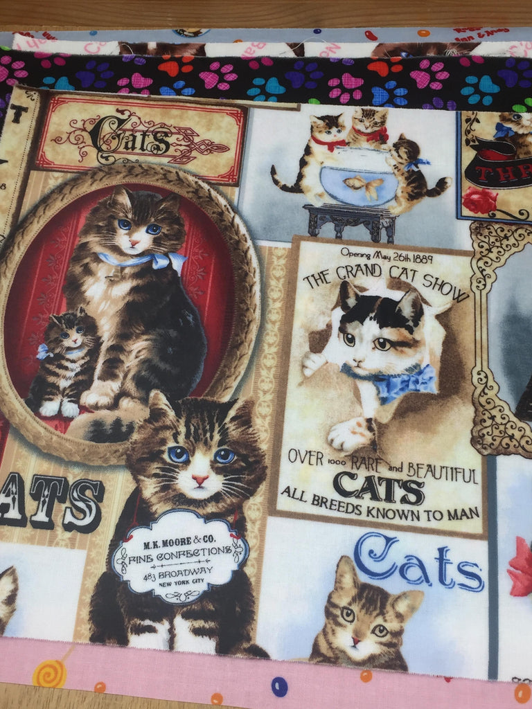 Cats fabrics in Nippori Textile town in Japan