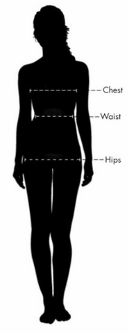 Use this guide in determining your size by measuring at the locations depicted on the mannequin.