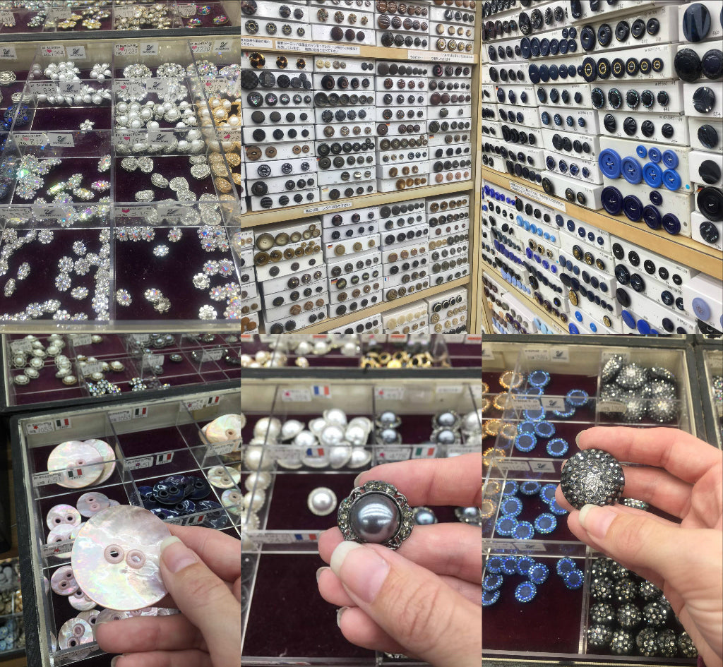House of buttons in Nippori Textile town in Japan.