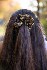 Black and Gold Scrunchie