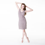 A rose bodycon with charcoal heathering throughout. Perfect amount of stretch.