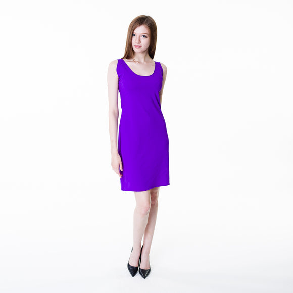 Nylon polyester purple bodycon dress