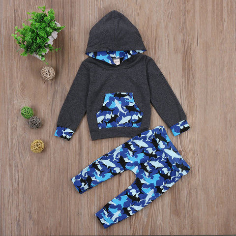 Shark Hooded Set