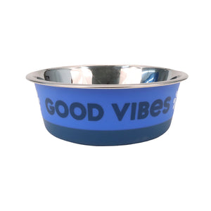 Life is Good. Stainless Pet Bowl, Daisy