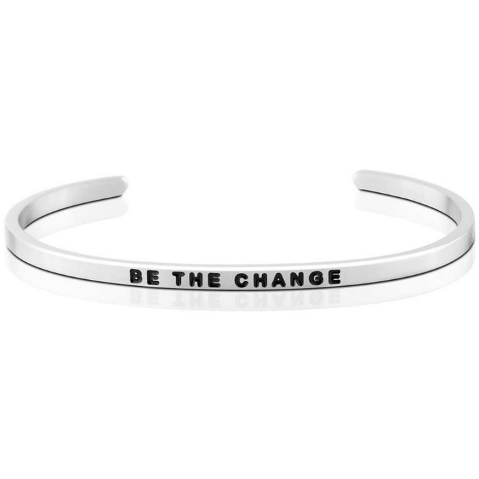 MantraBand Bracelet - Be The Change, Silver