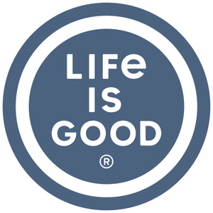 "Life is Good. 4"" Circle Sticker: LIG Coin"