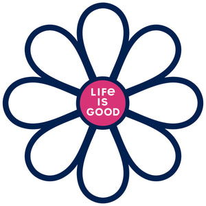 Life is Good. Die Cut Sticker: Simple Daisy