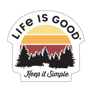 Life is Good. small Die Cut Sticker: Keep It Simple