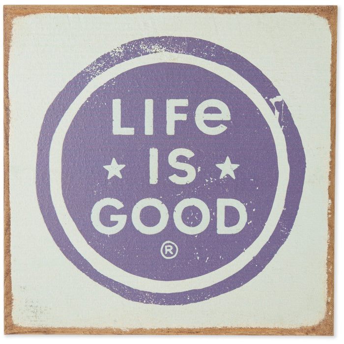 Life is Good. Large Wooden Sign: Kind People , Bermuda Blue
