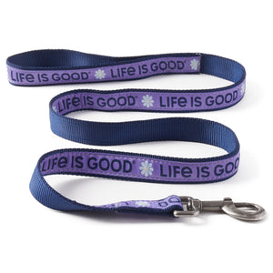 Life is Good. DAISY LIG DOG LEASH, Moonstone Purple-4'