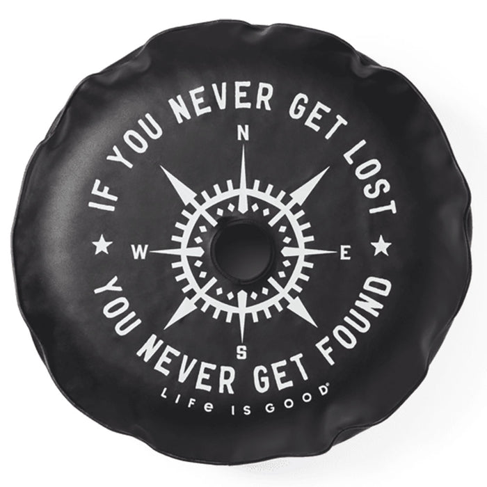 Life Is Good. Tire Cover Lost And Found Compass, Night Black-32""