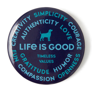 Life is Good Positive Pin, Superpowers Dog