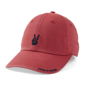 Life is Good. Chill Cap Positive Lifestyle-Faded Red