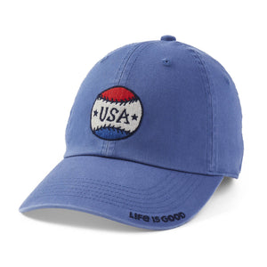 Life is Good. Chill Cap USA Baseball-Vintage Blue