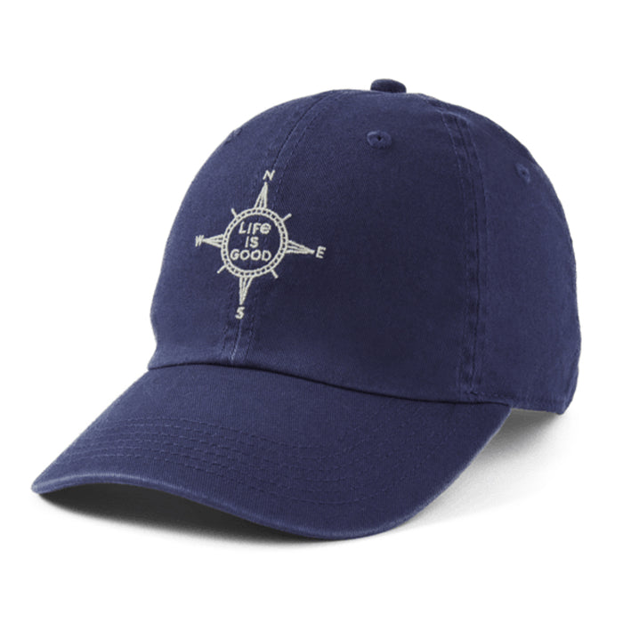 Life is Good. Chill Cap LIG Compass-Darkest Blue