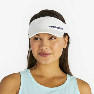 Life is Good. Sunwashed Visor LIG Heart-Cloud White