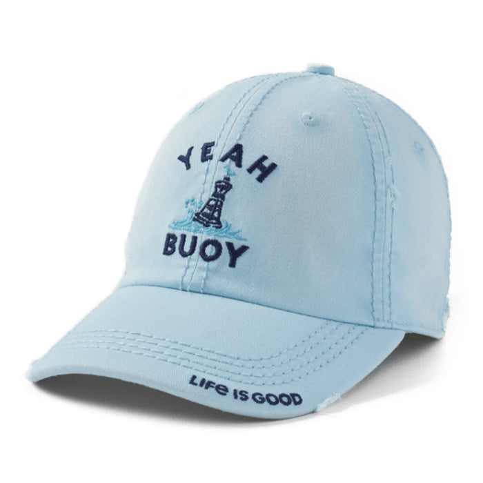 Life is Good. Sunwashed Chill Cap Yeah Buoy-Beach Blue