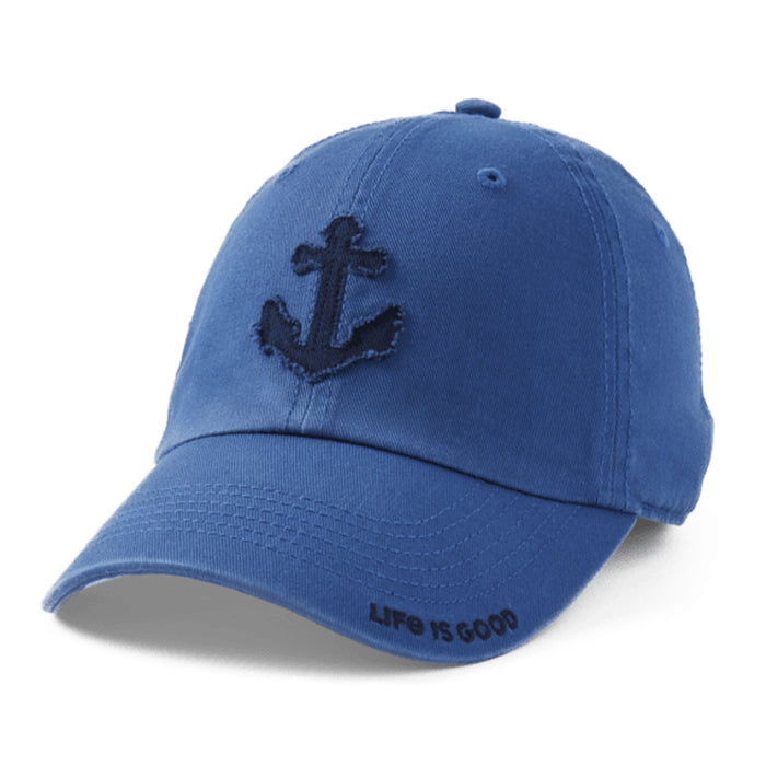 Life is Good. Tattered Chill Cap Anchor-Vintage Blue