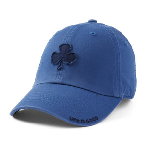 Life is Good. Tattered Chill Cap Shamrock-Vintage Blue