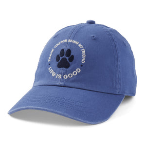 Life Is Good. Kids Chill Cap Thank You Pet, Vintage Blue