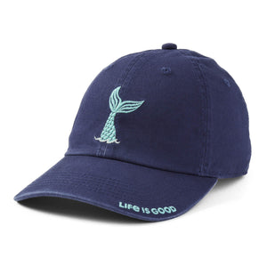 Life Is Good. Kids Chill Cap Mermaid Tail, Darkest Blue