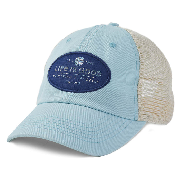 Life is Good. Soft Mesh Back Chill Cap LIG Positive Life-Beach Blue