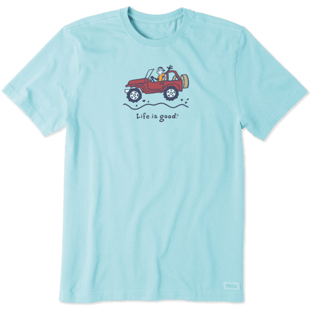 Life Is Good. Mens Crusher Tee Off-Road Jake, Beach Blue