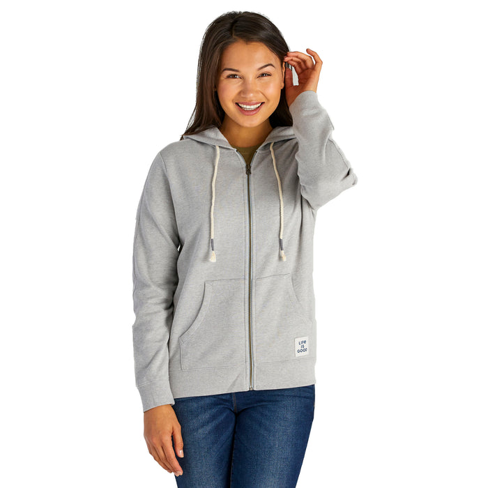 Life Is Good. Simply True Zip Hoodie, Light Heather Gray