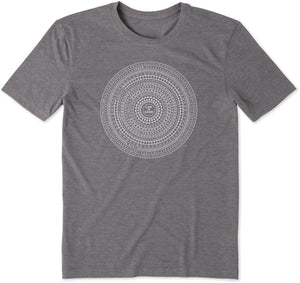 Life Is Good. Mens Cool Tee Super Circles, Slate Gray