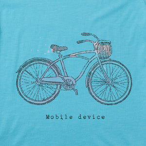 Life Is Good. Womens Cool Tee Mobile Device, Coastal Blue
